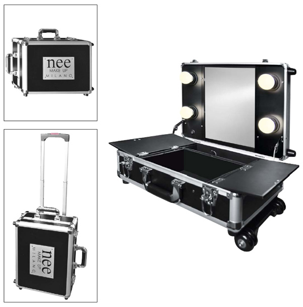 Nee make-up trolley with lights